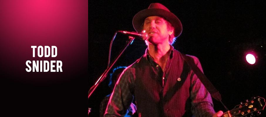 Todd Snider at El Rey Theater