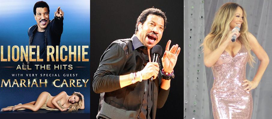 Lionel Richie with Mariah Carey at Hollywood Bowl