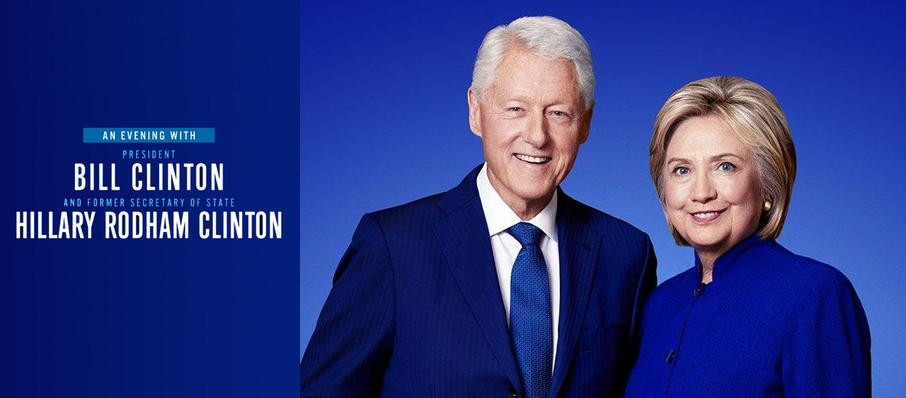 An Evening with Bill and Hillary Clinton at The Forum