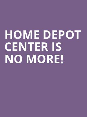 Home Depot Center is no more