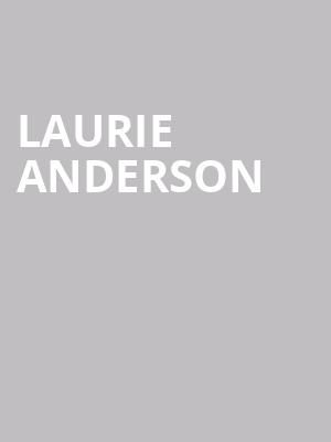 Laurie Anderson at Walt Disney Concert Hall