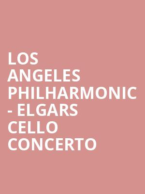 Los Angeles Philharmonic - Elgars Cello Concerto at Hollywood Bowl