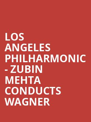 Los Angeles Philharmonic - Zubin Mehta Conducts Wagner at Walt Disney Concert Hall