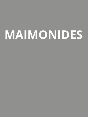 Maimonides at The Wiltern