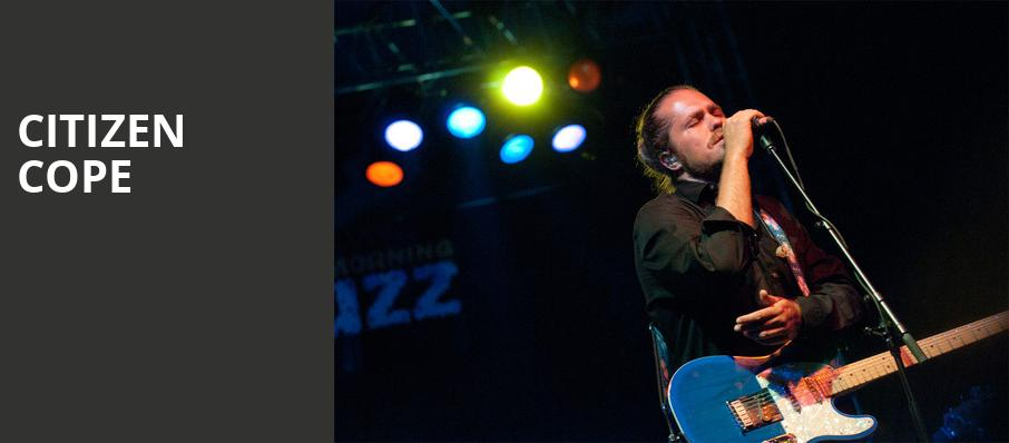 Citizen Cope, House of Blues, Los Angeles
