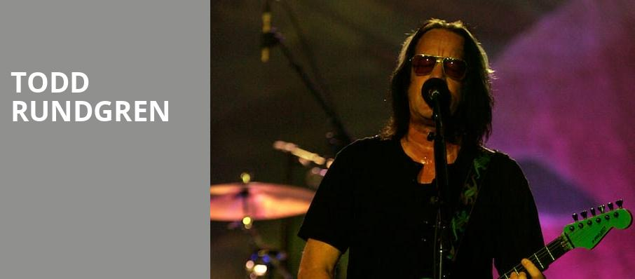 Todd Rundgren, Fox Performing Arts Center, Los Angeles