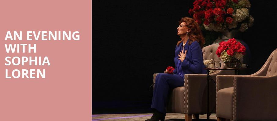 An Evening With Sophia Loren, The Show, Los Angeles