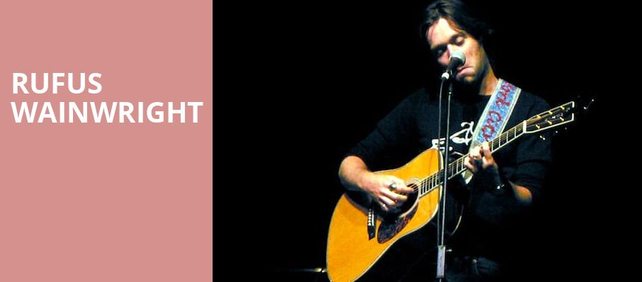Rufus Wainwright, Fred Kavli Theatre, Los Angeles