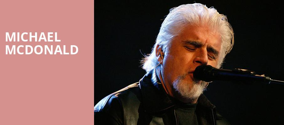 Michael McDonald, Orpheum Theater, Los Angeles