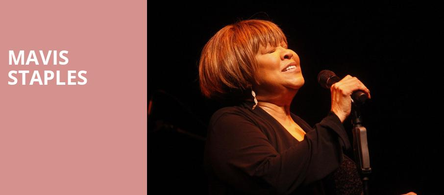 Mavis Staples, Valley Performing Arts Center, Los Angeles