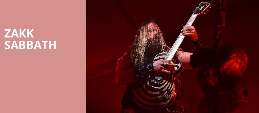 Zakk Sabbath, El Rey Theater, Los Angeles