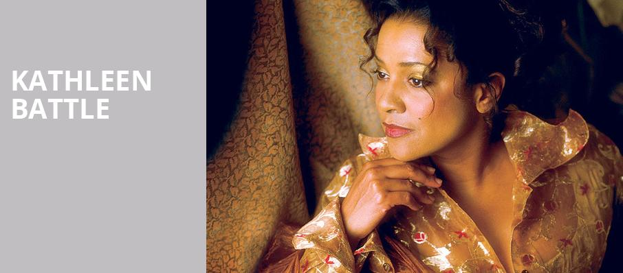 Kathleen Battle, Valley Performing Arts Center, Los Angeles