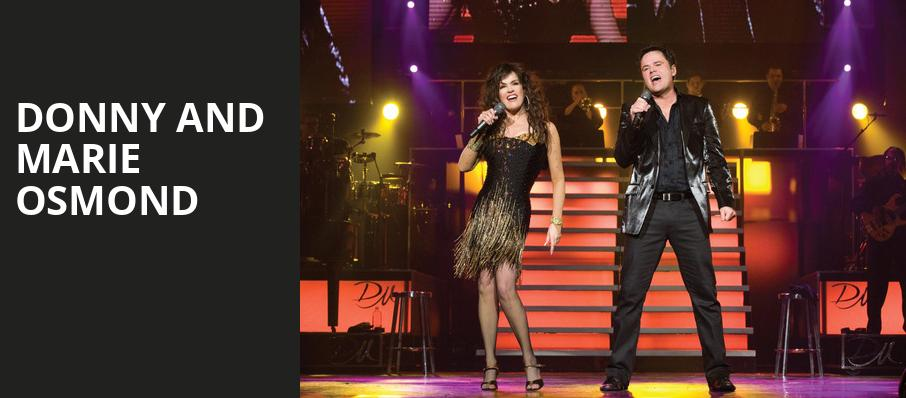 Donny and Marie Osmond, The Show, Los Angeles