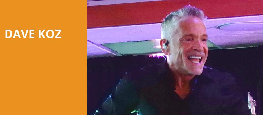 Dave Koz, Fred Kavli Theatre, Los Angeles